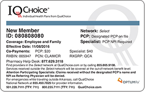 IQChoice Member ID card